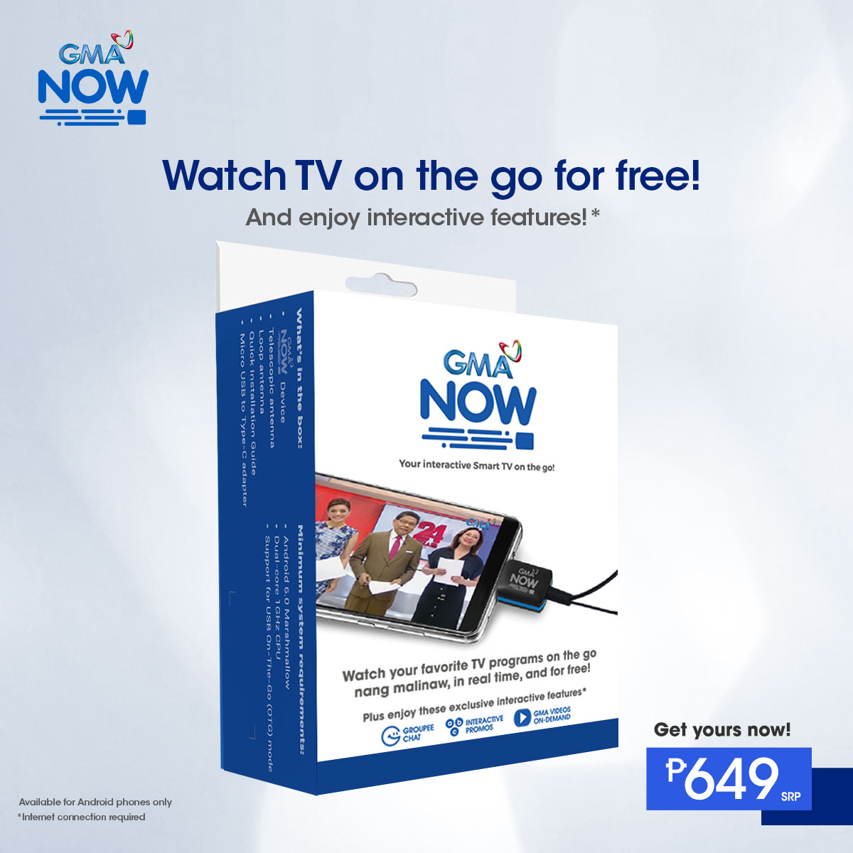 GMA Now -- Watch TV on the go for free